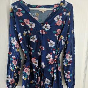 ModCloth Floral Blouse with Lace Details 1X